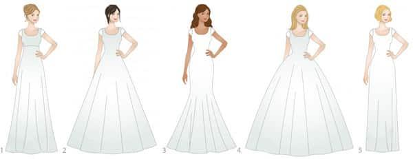 ... de sa morphologie pour se sentir au mieux dans sa robe de mariée